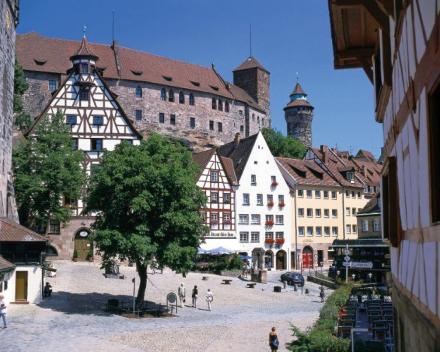 De gezellige binnenstad van Neurenberg