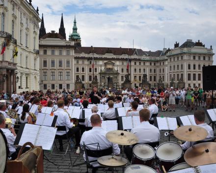 Straatconcert in Praag