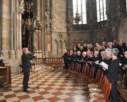 Koorreis Wenen, zingen in de Stephansdom Wenen