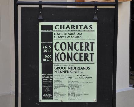 Koorreis Praag, alle concerten worden aangekondigd.