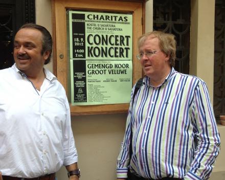 Koorreis Praag Martin Mans en Wim Magre