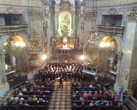 Koorreis Wenen, concert in de Stiftkirche