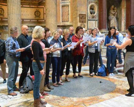 Concert in de St. Pieter, de toegift na het concert:  Moderato Cantabile o.l.v. Nana Tchikhinashvili