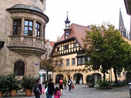 Autovrije binnenstad van Regensburg