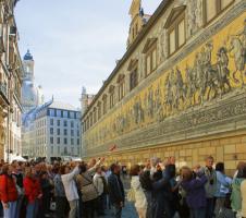 Koorreis COV IJmuiden tijdens excursie in Dresden