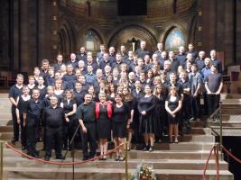 Concert van koor Breuschwickersheim in de Kathedraal van Straatsburg