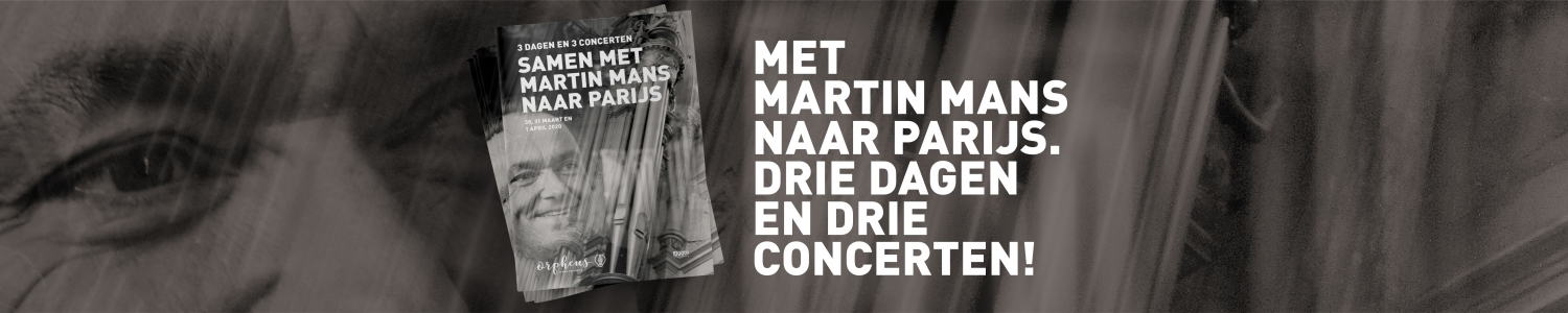 Samen met Martin Mans naar Parijs, schrijf u hier in!