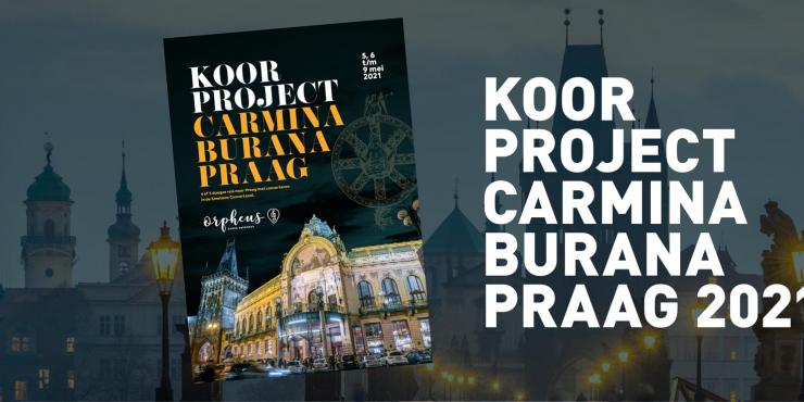 Koorproject Carmina Burana Praag 2021. 4 of 5 daagse reis naar Praag met concerteren in de Smetana Concertzaal.